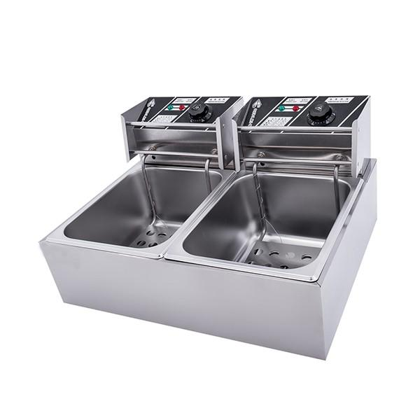 Commercial Stainless Steel Continuous LPG Gas Deep Fryer #1 image