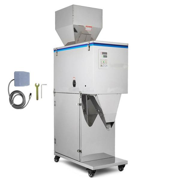 4 Heads Semi Automatic Granule Filling Machine Rice Sugar Bean Tea Cashew Nuts Weighing Filling Packing Machine #1 image